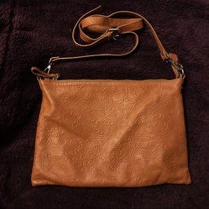 IO Pelle Antonio Cristiano Tan Leather Crossbody